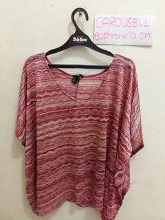 Authentic H&M Pink Breezy Batwing Top