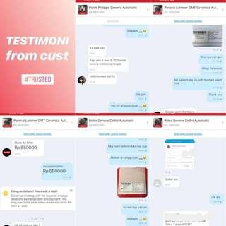 Testimoni from cust