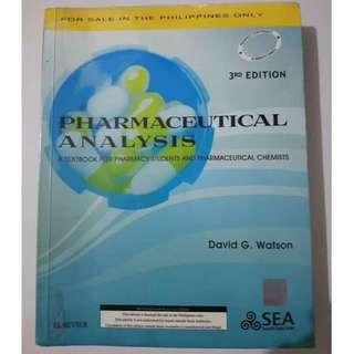 Pharmaceutical Analysis by Watson 3rd Edition