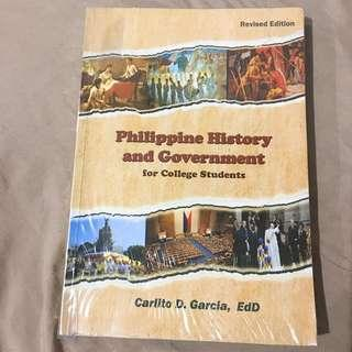Philippine History and Government for College Students by Carlito D. Garcia