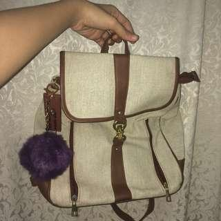 THAILAND LEATHER BAG/ BACK PACK [USED]