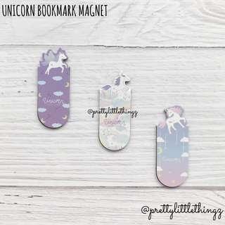 🚚 《instock bookmark magnet set》unicorn