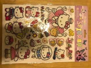 [全新低放] 手帳貼紙 sticker l 立體貼紙 大大張 hello kitty