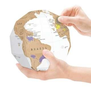 🚚 Globe 3D DIY Vertical World Map Travel Deluxe Scratch Map