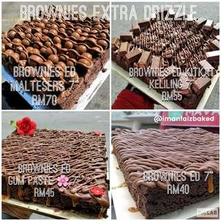 """BROWNIES EXTRA DRIZZLE 7"""" INCH"""