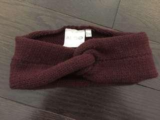 Burgundy Knit Headband