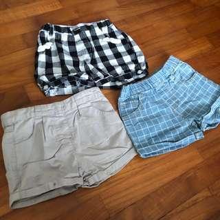 🚚 EUC 12-24M 3x Bundle of Girl's Shorts