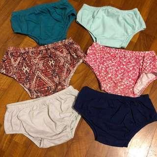 🚚 EUC 2-3T 6x Bundle Girl's Bloomers diaper covers