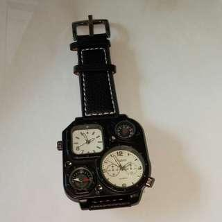 Dual times watches witj compass