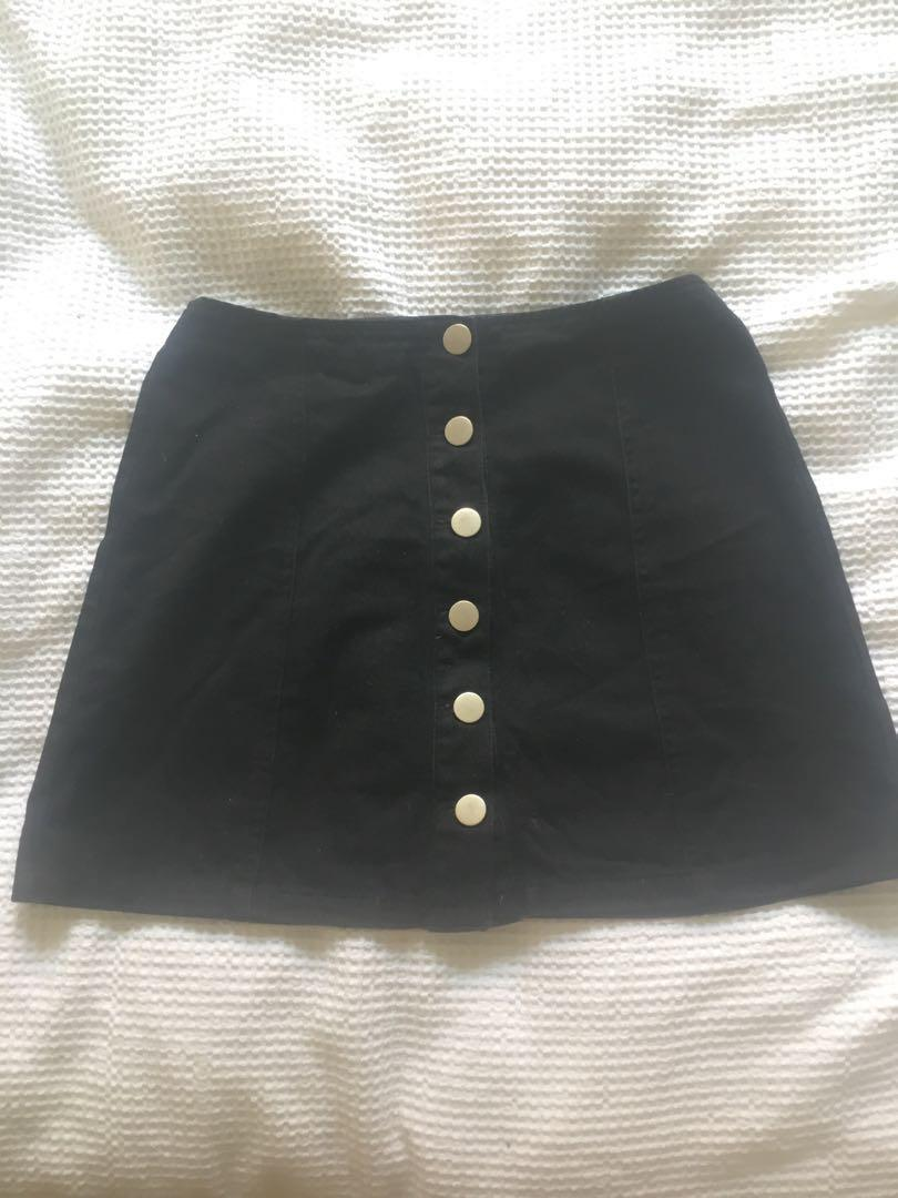 2 for $10 DEAL Black Basic A-Line Skirt 6-8