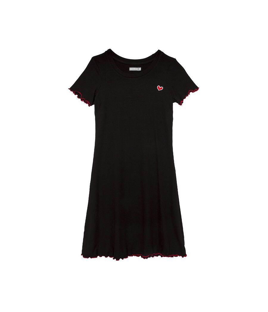 a7ba629a771 6IXTY8IGHT Heart Embroidered T-Shirt Dress