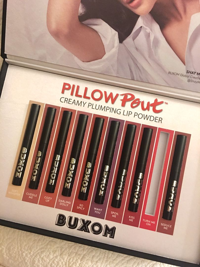 9 Brand New Buxom Cosmetics Pillow Pout plumping lip powders in gift box (Retail for $26 EACH at Sephora)