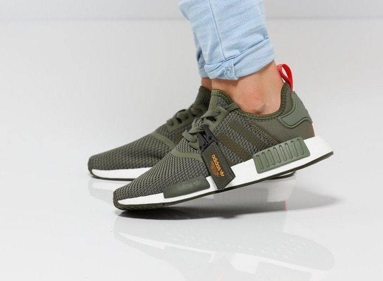 e4cccddcfe90 Adidas NMD R1 Olive Green(B37620)
