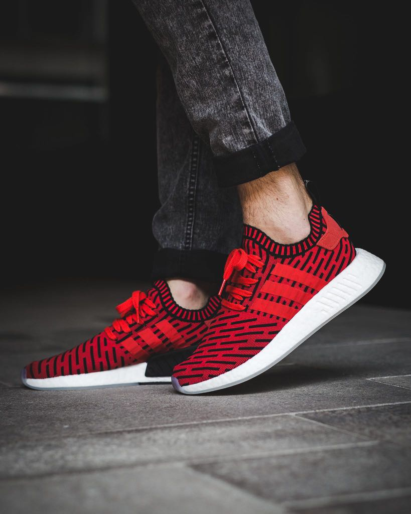 new product d10e4 0df16 Adidas NMD R2 Primeknit Core Red