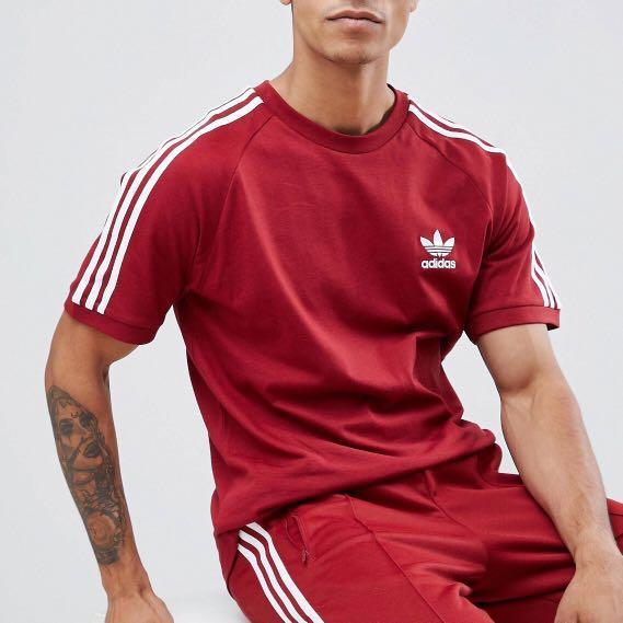 adidas burgundy tshirt Shop Clothing & Shoes Online