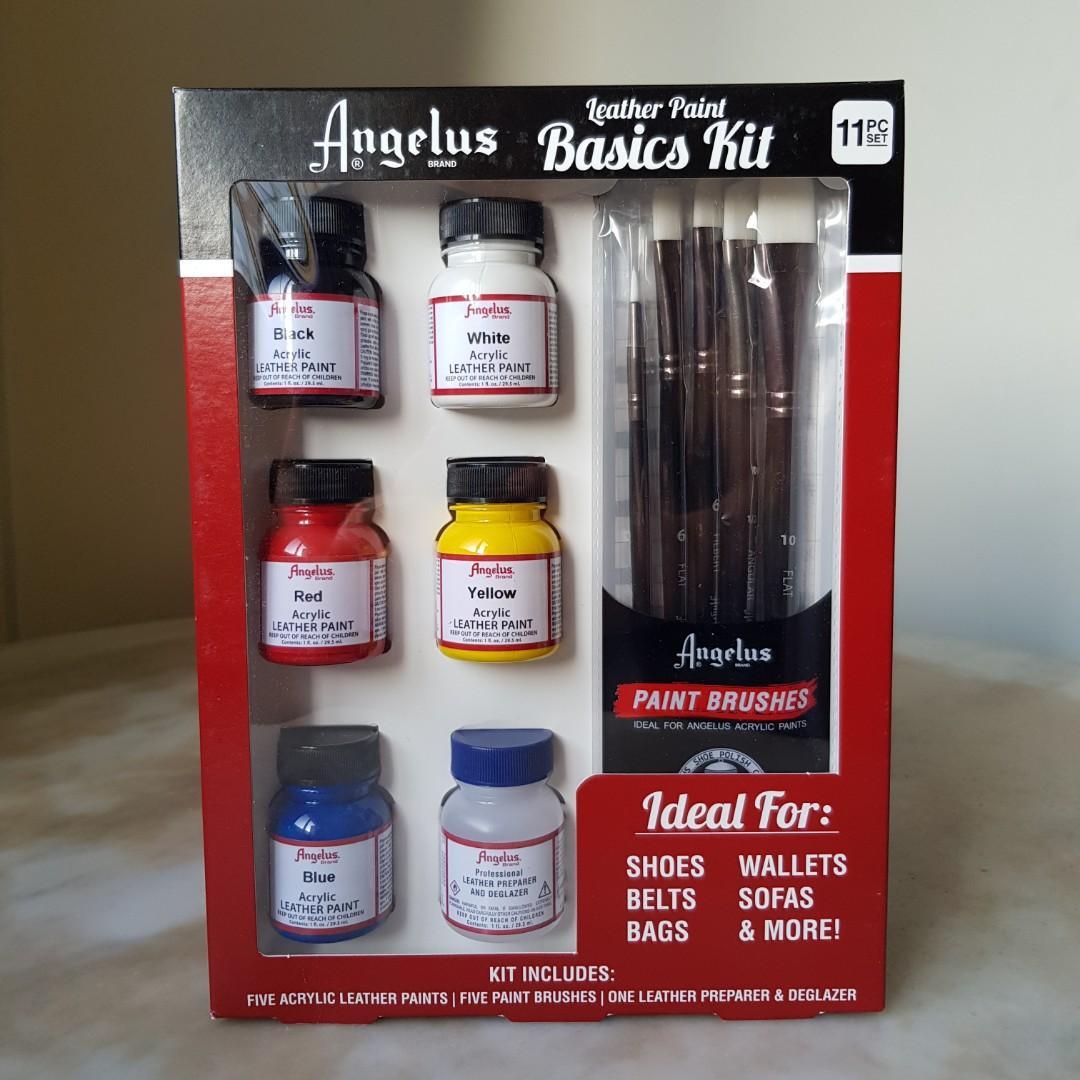 Angelus Acrylic Leather Paint Basic Starter Kit With