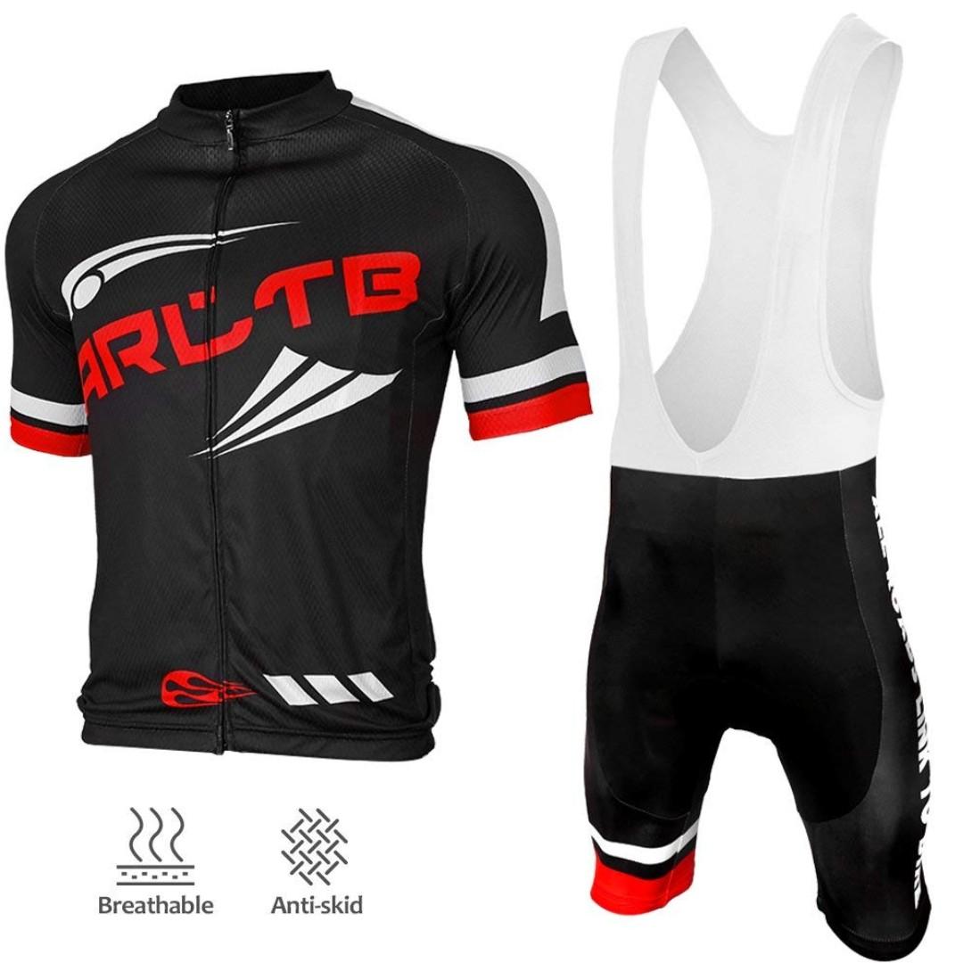 Arltb Cycling Jersey and Bib Shorts Set Bicycle Bike Short Sleeve ... 98f1c00b4