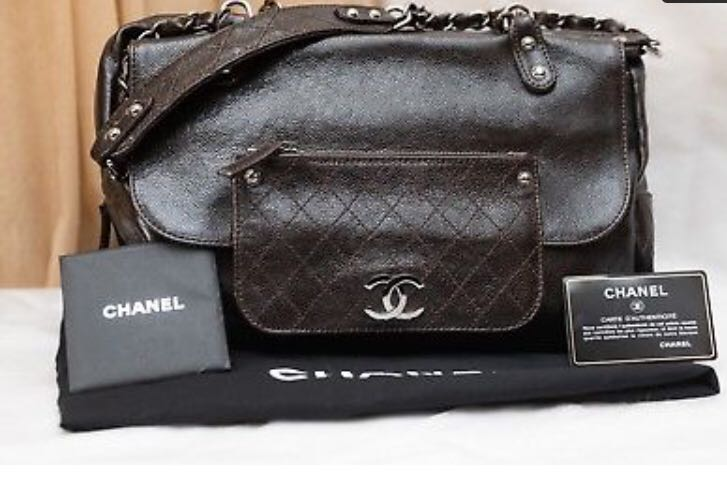 Authentic Chanel NEW Quilted Glazed Caviar Leather Tote Bag