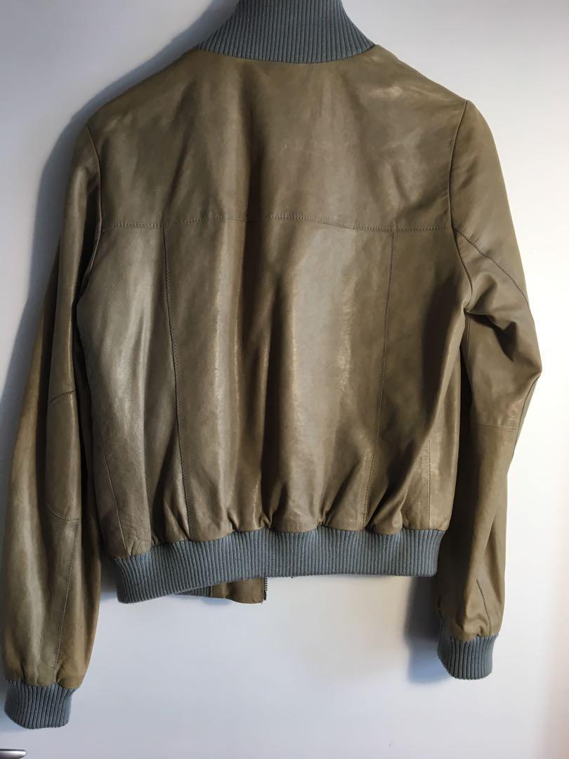 Banana Republic Monogram -  100% leather crop jacket size m
