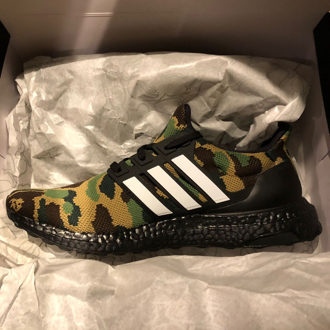 the best attitude 0f4ae 843cc Bape x Adidas camou shoes US9.5 (NEW), Mens Fashion, Footwear, Sneakers on  Carousell