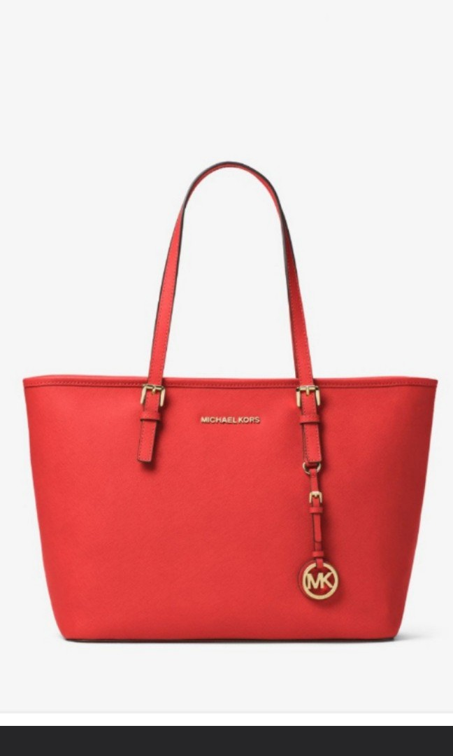 930cf60046108d Brand New Authentic Michael Kors Jet Set Travel TZ Top Zip Tote Bag ...