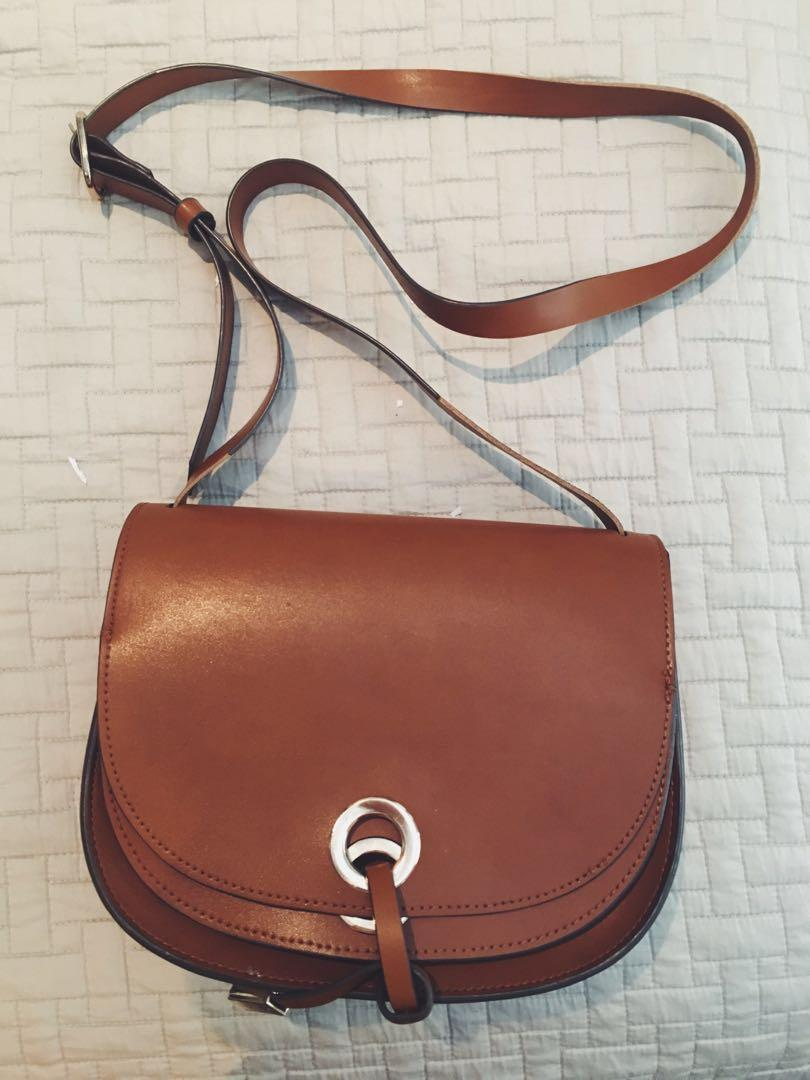 brown authentic ZARA handbag