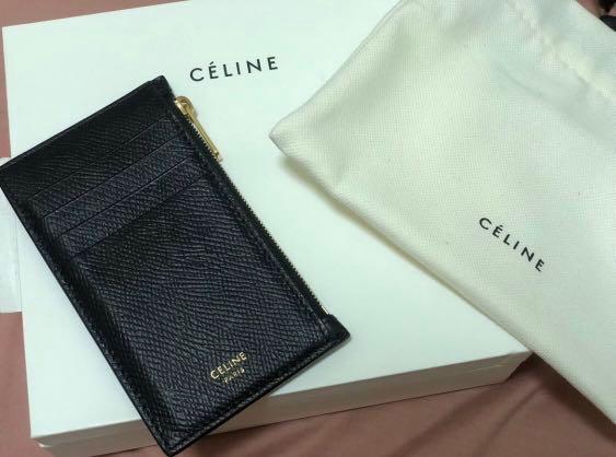 buy popular 5e4b3 61499 Celine Zipped Compact Card Holder