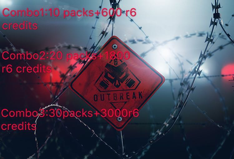 Cheap r6 credits/ outbreak packs
