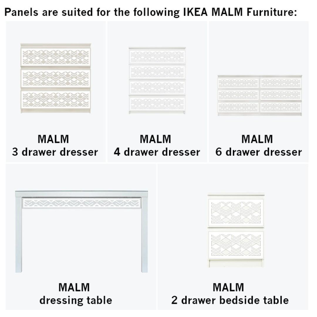 Cubes MALM Furniture Kit Overlay Panels