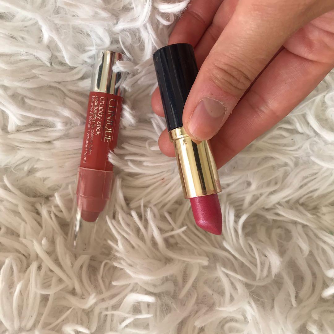 Estēe Lauder Lipstick & Clinique Chubby Stick moisturizing lip color balm