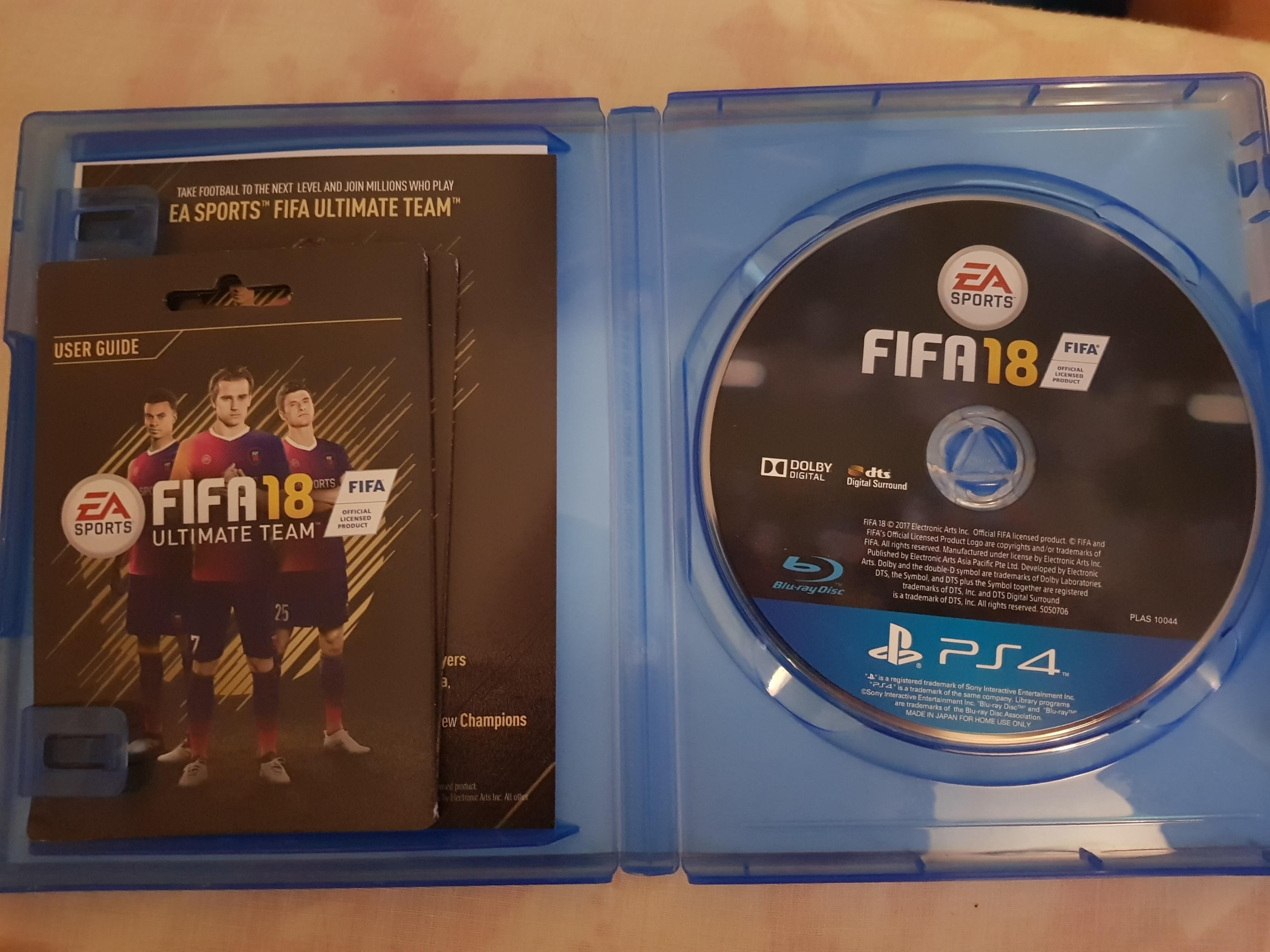 FIFA 18 (AS GOOD AS NEW)