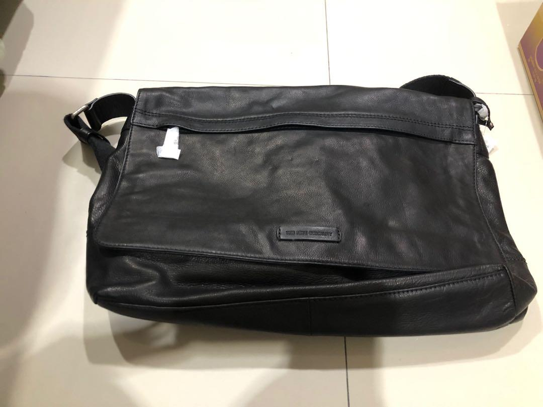 Frye postman bag black Brand New