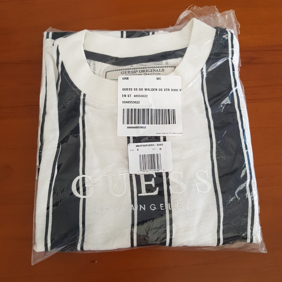 b695931f5 Guess Walden Striped Tshirt S, Men's Fashion, Clothes, Tops on Carousell