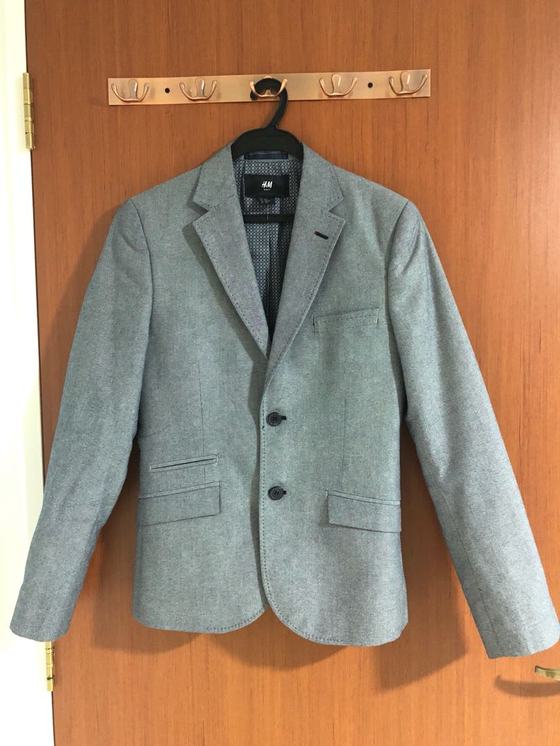 c3c6a0d96430 H&M Grey Blazer Slim Fit Eur44, Men's Fashion, Clothes, Outerwear on ...
