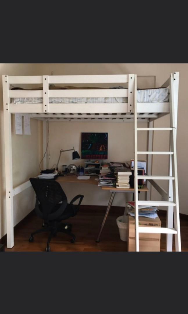 ikea loft bed 140x200 furniture beds mattresses on carousell