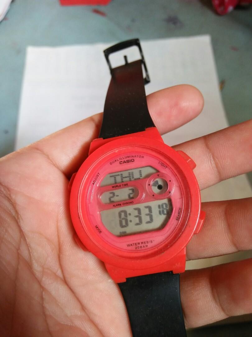 Jam tangan  Casio Baby-G Classic Dual illuminator Vintage Authentic Light menyala normal Shock Resist original made in China Rare/Limited edition Kondisi 90% mulus  Strap bukan ori bawaan Harga: 160rb nett