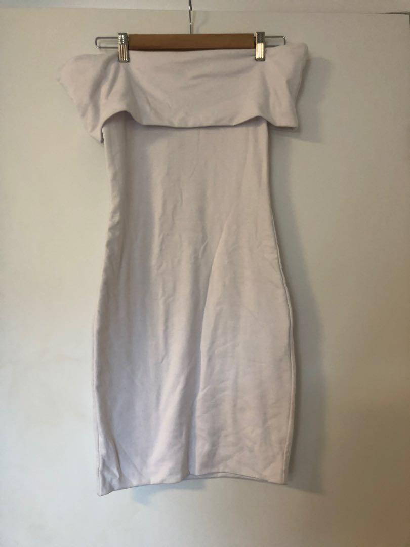 Kookai white dress - off the shoulder size one never worn with tags