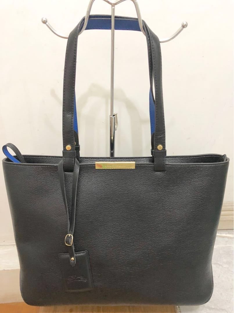 14be1af593de Longchamp Le Foulonne City medium tote bag - Black