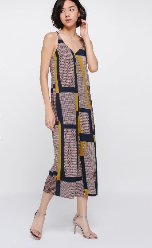 7a4969e96e6 Love Bonito Picella Printed Midi Jumpsuit