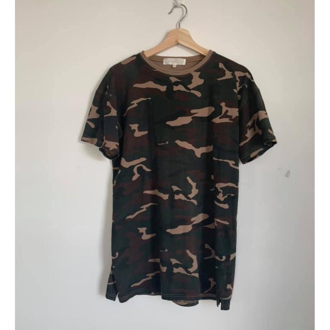 Meshki Camo T Shirt Mini Dress