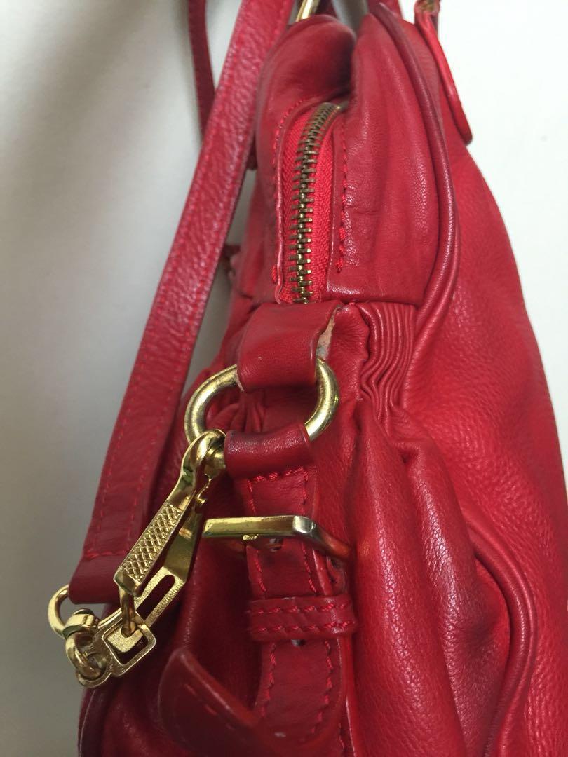 Miu Miu red leather bag (replica) eda62f2d7ff72
