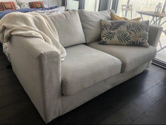 NEW- Beige Couch/ Beige sofa/ Off white Couch/Loveseat