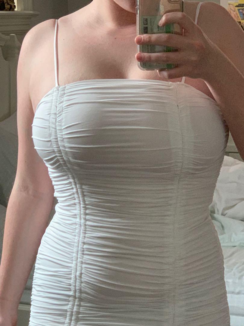 NEW TIGER MIST SIZE LARGE WHITE BODY CON DRESS, Zion Dress