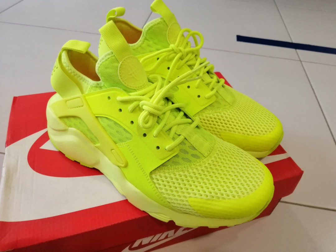 40a5d8cfe3e5 Niike Air Huarache Run Ultra Bright Yellow