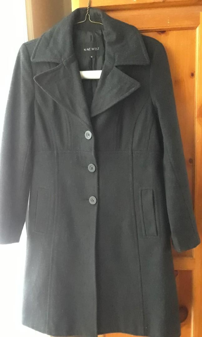 Nine West Charcoal Grey Coat