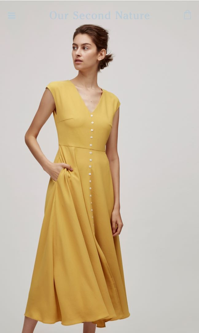 a35ba6d692 Our second nature OSN button down maxi dress