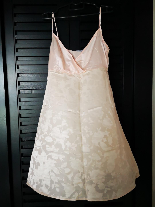 Pink satin camisole dress