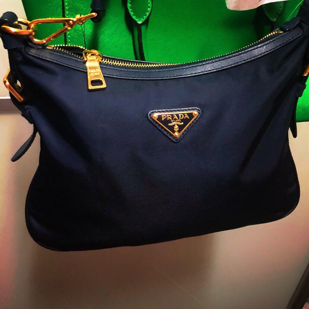 8278e0d7d2ae38 Prada Tessuto Nylon Saffiano Crossbody Bag, Women's Fashion, Bags ...