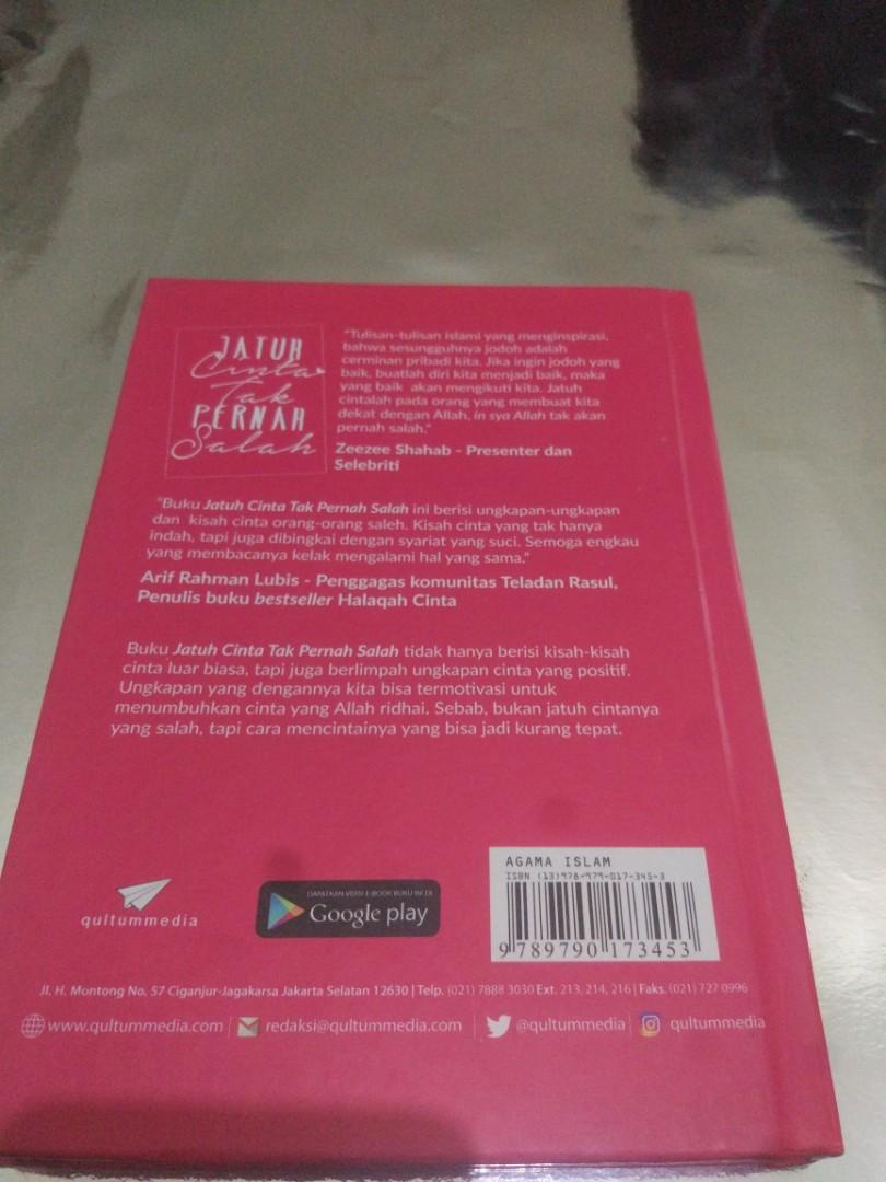 Jatuh Cinta Tak Pernah Salah Books Stationery Books On
