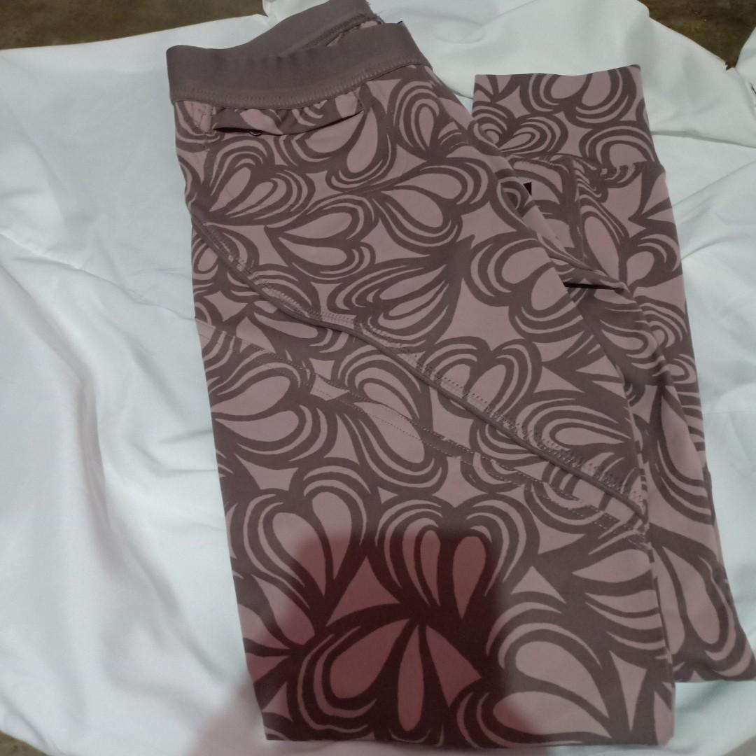 4064dec9cae20 Stella Mccartney Womens Pink Grey Leggings Adidas Studio Heart Tight ...